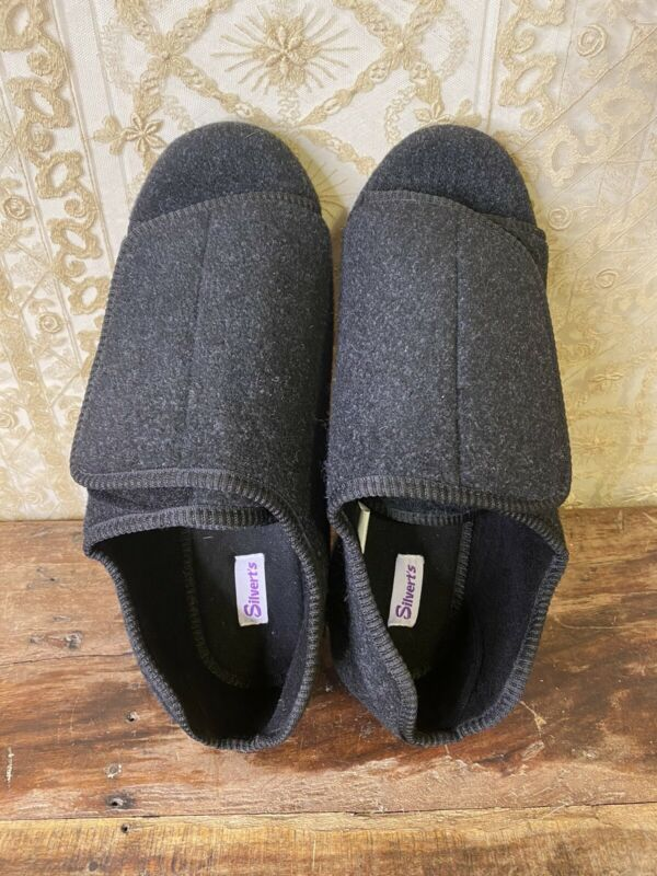 Men's Extra Wide Swollen Feet SILVERTS Size 14 Adaptive Shoes For Diabetics