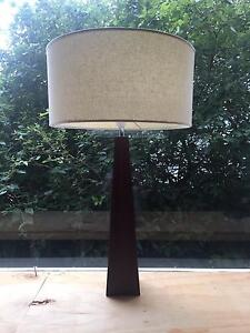 *****URGENT*******  Large dark wood lamp with oversized shade Richmond Yarra Area Preview
