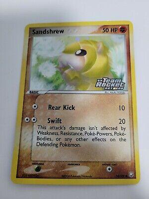 Sandshrew - 74/109 - Stamped Common Reverse Holo Ex Team Rocket Returns