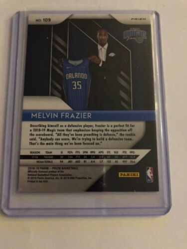 2018-19 Prizm Melvin Frazier Prizms Silver Rookie Card Parallel Magic B DFO - $4.99