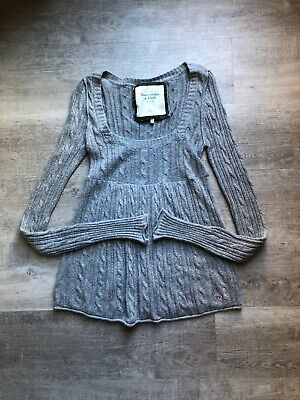 Abercrombie & Fitch Womens Gray Sweater Tunic Size L