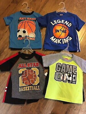 NWT size 2T Toddler boys Clothes Summer Shirts Shorts sets 4 Outfits ~Sports
