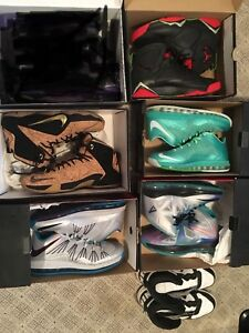 Priced to sell lebrons and jordan 7