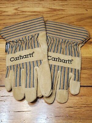 New Without Tags Carhartt Insulated Leather Palm Gloves Suede Cow Hide