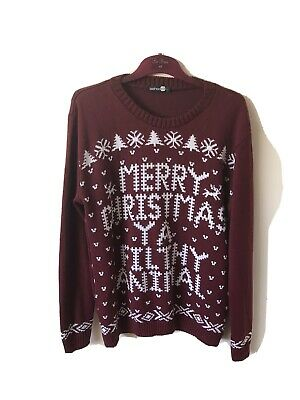 Boo Hoo Mens Christmas Jumper - Large Made In U.K.