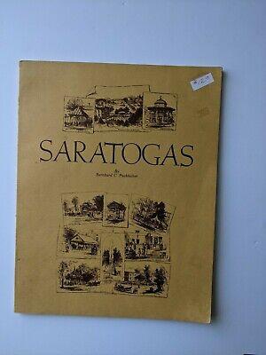 Antique Bottle Reference Book Saratogas By Bernhard Puckhaber 1976 Signed