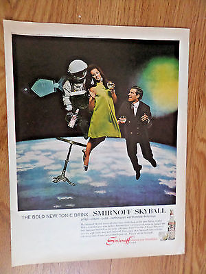 1967 Smirnoff Vodka Ad  Smirnoff Skyball   NASA Space Theme
