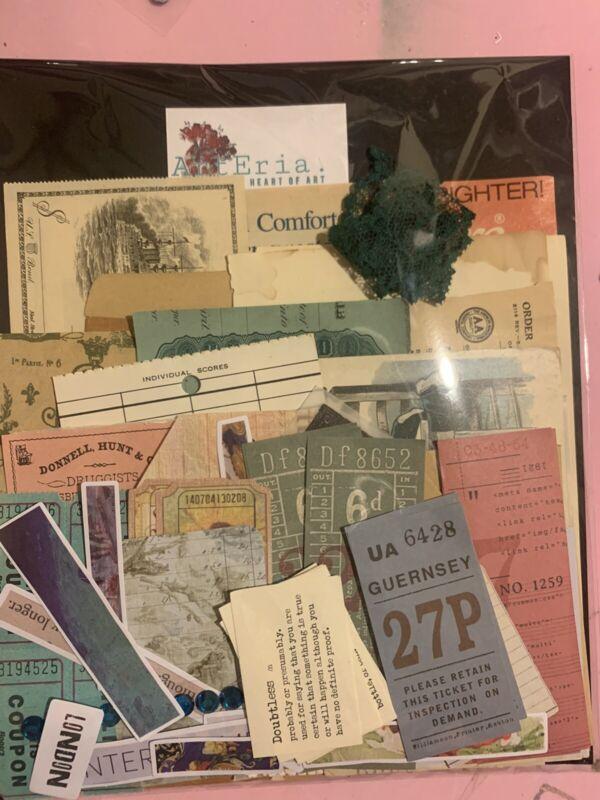 Junk Journal Ephemera Huge Lot Vintage Papers Etc Bundle
