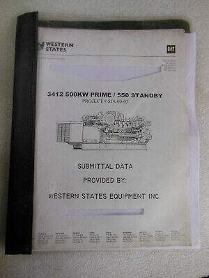 Caterpillar Cat 3412 Engine 500 Kw Prime 550 Standby Diesel Generator Manual