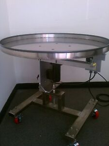 NEW Accumulation Table 4' diameter with variable speed control!!
