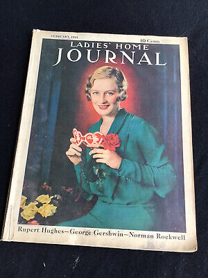 Vintage Ladies Home Journal Feb 1931 Fashion Car & Product Advertising