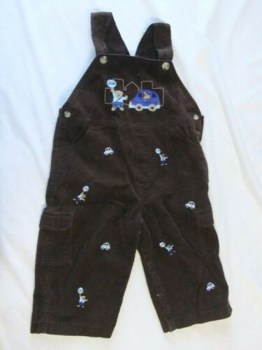 Pre-Owned Toddler Boys 18M  Brown Corduroy Bibs/Overalls