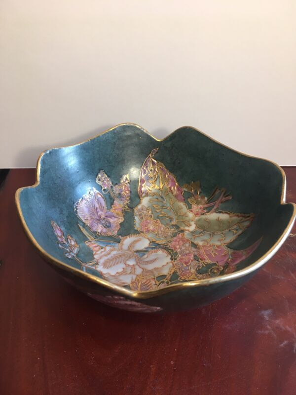 Antique Chinese Gilded Multicolored Bowl