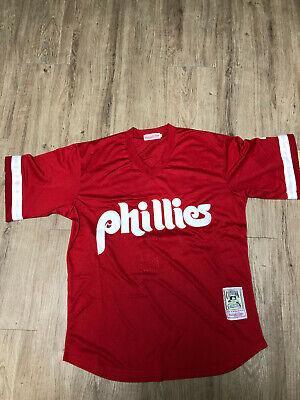 Phillies #4 Lenny Dykstra Jersey Red Retro Uniform Men