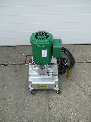 Greenlee 940 10000 Psi Electric Hydraulic Pump W Wheels For Pipe Bender Used