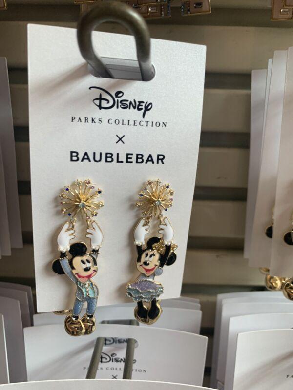 Walt Disney World 50th Anniversary Mickey and Minnie Earrings by BaubleBar