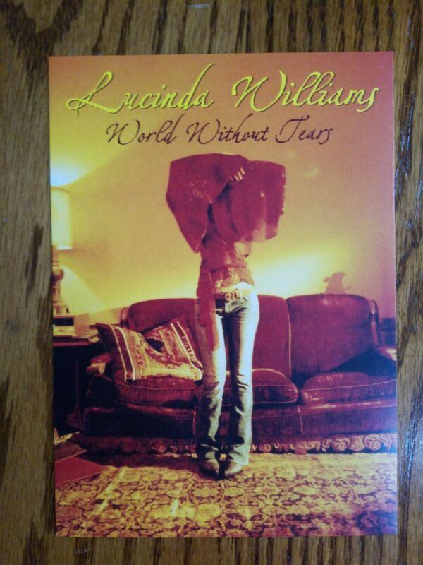 LUCINDA WILLIAMS promo postcard WORLD WITHOUT TEARS album 2003