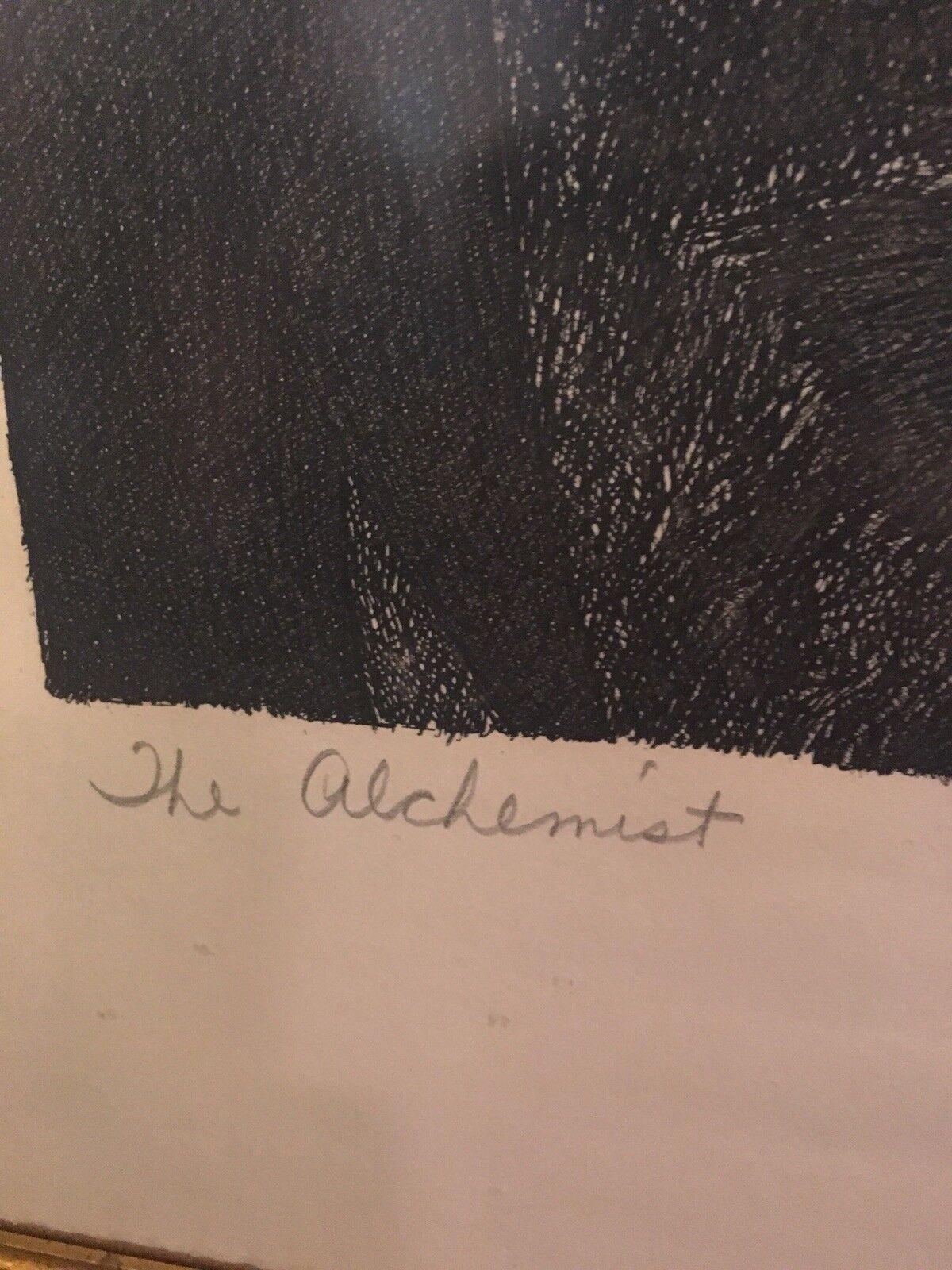 Federico Castellon The Alchemist Signed Print Rare 1960 s - $499.99