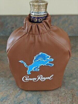 Detroit Lions Faux Leather Crown Royal Bag