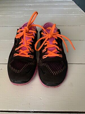 Nike Womens Free 5.0 Knit Purple Pink Trainers 37/4