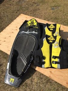 Knee board and life jackets