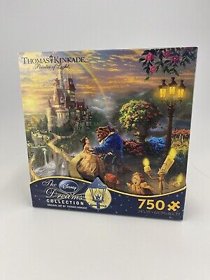 Disney Thomas Kinkade Beauty & the Beast Falling in Love 750 Piece Puzzle