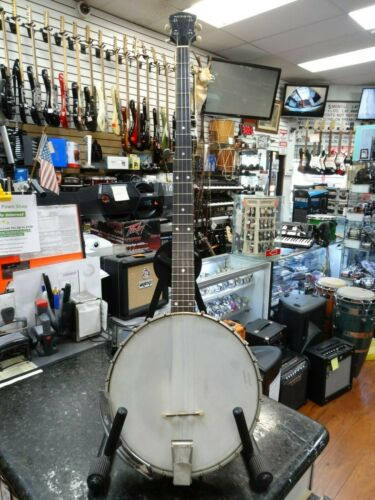 Vintage Vega 1964 SS-5 Folklore Banjo Banjo 2 Color Sunburst Open Back