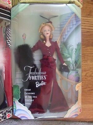 Fabulous Forties Barbie 1999 4th Series 40's Great Fashions the 20th Century