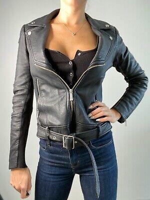 BCBG leather Jacket Black Small