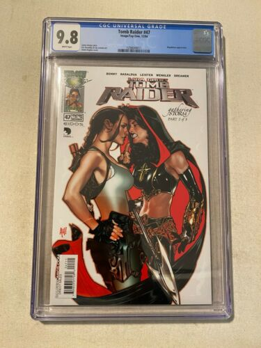 TOMB RAIDER #47 CGC 9.8 ADAM HUGHES COVER