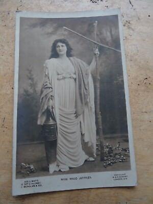 Vintage Edwardian Actress Photo Postcard Maud Jeffries