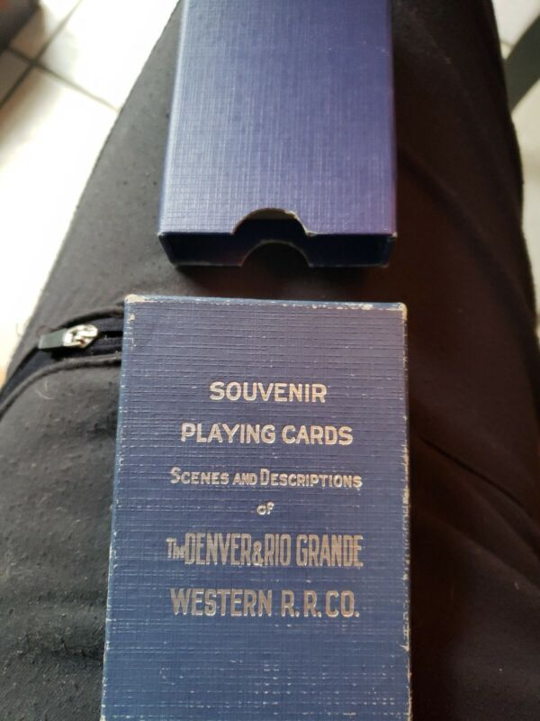 Vintage The Denver and Rio Grande Western Railroad Co. Souvenir Playing Cards