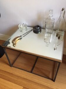 MIRRORED COFFEE TABLE VINTAGE INDUSTRIAL