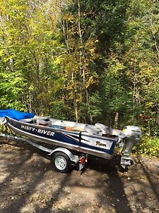 14' misty river raven with 20 hp honda
