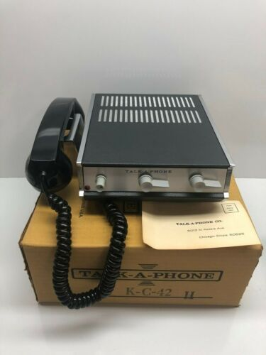NEW VINTAGE TALK-A-PHONE K-C-42H