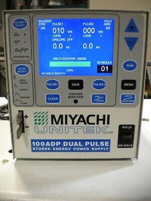 Miyachi Unitek Amada Spot Welder Power Supply Model 100adp Excellent Condition