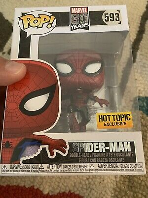 Funko POP! Spider-Man #593 Metallic Hot Topic Exclusive Five Available In-Hand