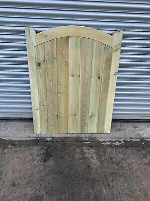 Stockton Curve Timber Gate. Bespoke Wooden Gates Made To Order. Treated