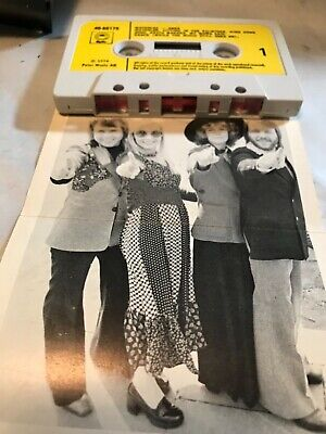 ABBA WATERLOO Cassette Rare fold out cover UK Epic 80179 Yellow paper lable EX