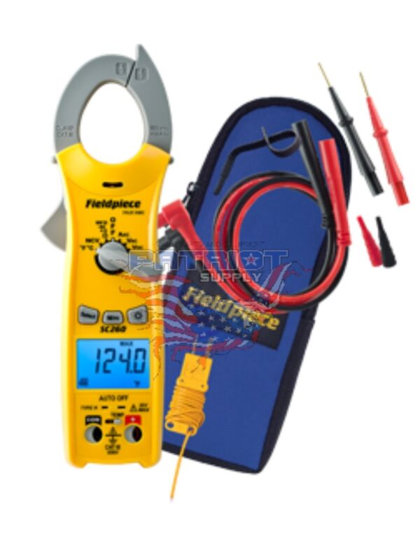NEW!!! Fieldpiece SC260 Compact Clamp Meter True RMS & Magnet