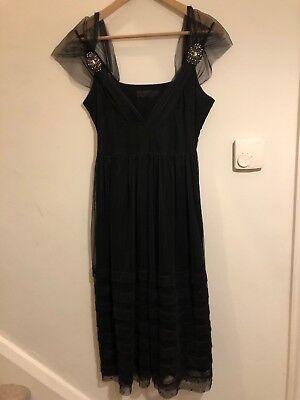 Noa Noa Black Dress With Lining XS Net Occasion Empire Deco Pos Maternity?