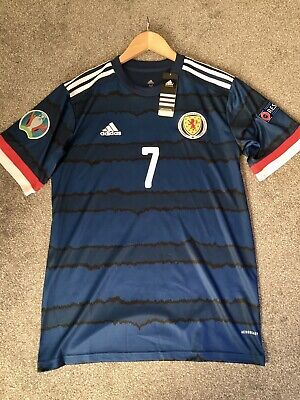 New Mens Scotland Home Football Shirt Euro 2020 2021 John MCGINN 7 Size Medium M image