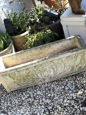 Vintage Garden Trough Planter  Nicely Weathered