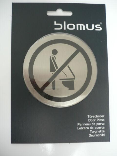 Blomus Türschild Bitte setzen 68146 Edelstahl selbstklebend Türschilder Toilette