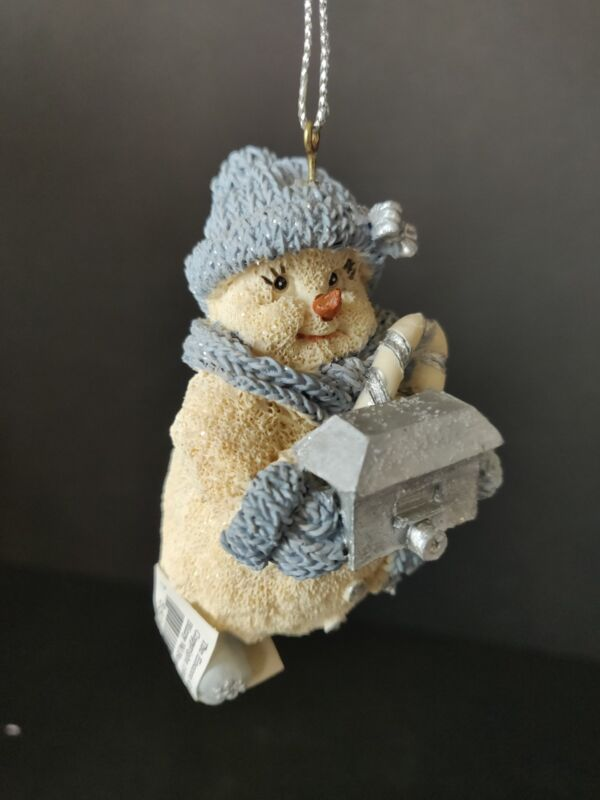 """Snowman w/ Boxcar Christmas Ornament Approximately 2"""" tall The Encore Group Inc"""