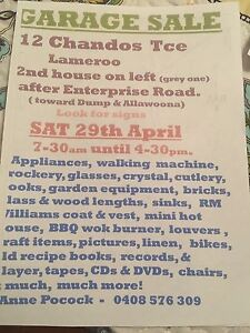 Garage sale Lameroo Southern Mallee Preview