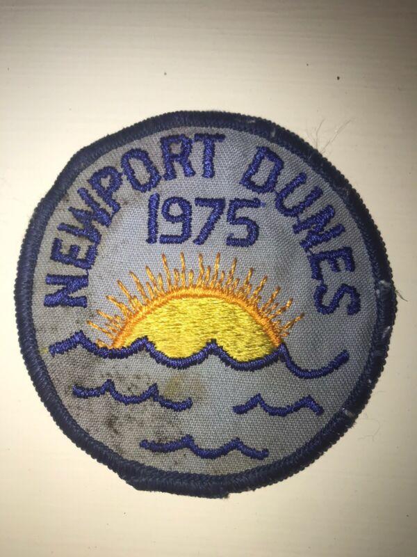 Rare NEWPORT DUNES 1975 PATCH Newport Beach