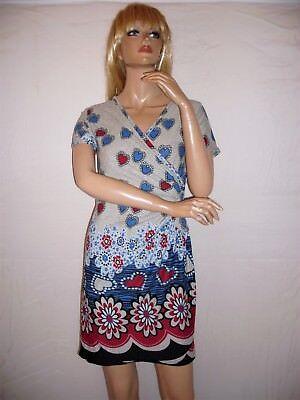 süßes Minikleid,Longshirt,Herzen,Blüten,Hippie,Boho,Ethno,Retro,Gr.S bis (Hippie Kleid Bis)