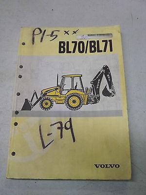 Volvo Bl70 Bl71 Backhoe Loader Operation Manual French Manuel Dentretien 07