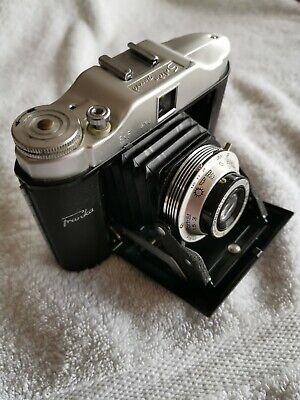 Rare appareil photo ancien soufflet FRANKA SOLIDA Rec., étui en cuir /Old camera